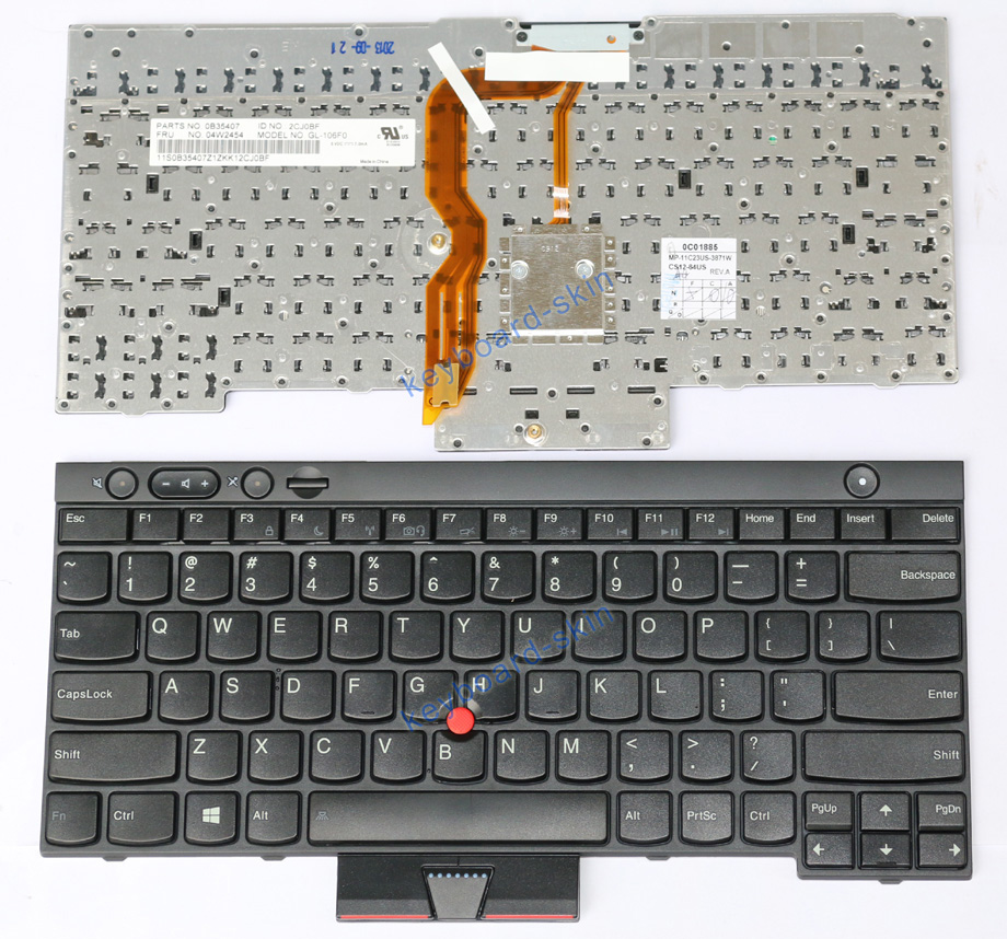 For Lenovo Ibm Thinkpad W530 X230 T430 T530 Laptop Keyboard 04x1201 Cs12