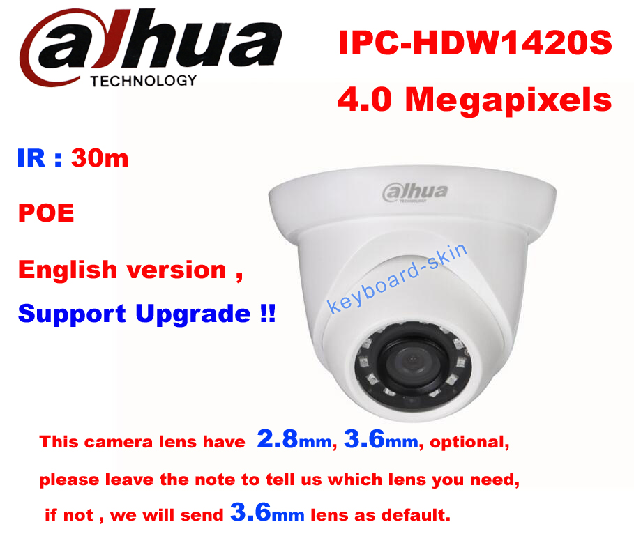 Details about Dahua IPC-HDW1420S 4MP POE IR network security Dome Camera  Replace IPC-HDW4300S