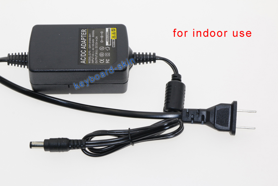 Details about indoor AC/DC 12V/2A Power Supply Adapter for dahua Hikvision  Security IP Camera