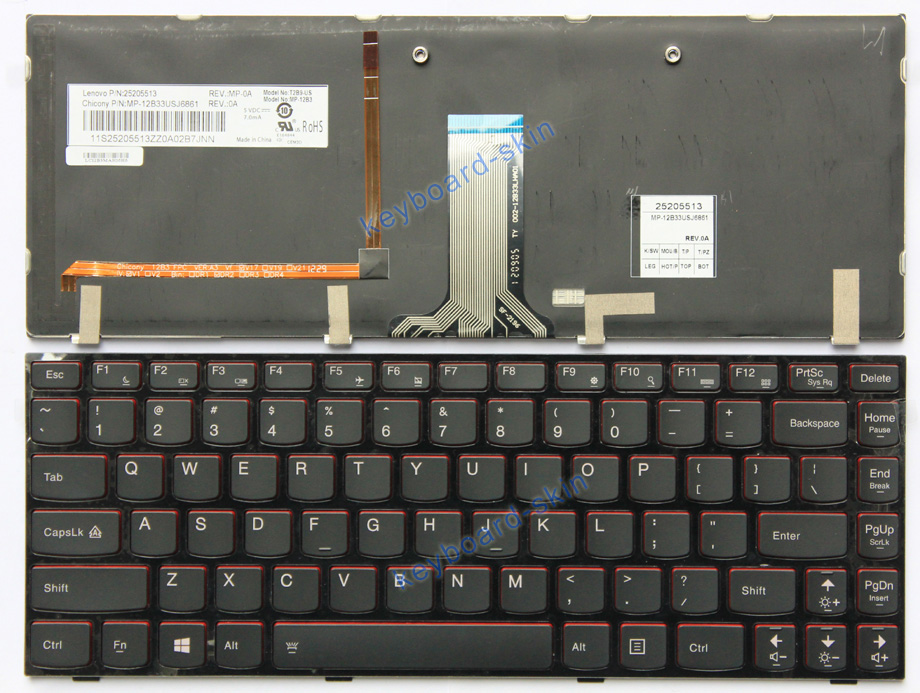 Keyboard Skin Cover Protector for IBM Lenovo IdeaPad Y410,Y410p-2013 new version