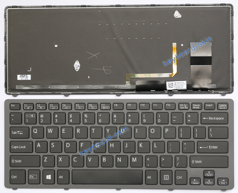 New for SONY VAIO SVF-14N SVF14N keyboard US Backlit 149263721US 9Z.NABBQ.401